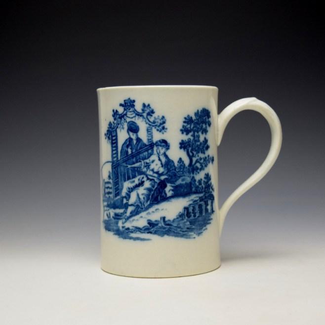 Caughley La Peche La Promenade Chinoise Pattern Mug c1776-92 (1)
