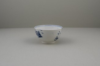 Lowestoft Porcelain Rock Strata Pattern Teabowl and Saucer, C1770-80 (4)