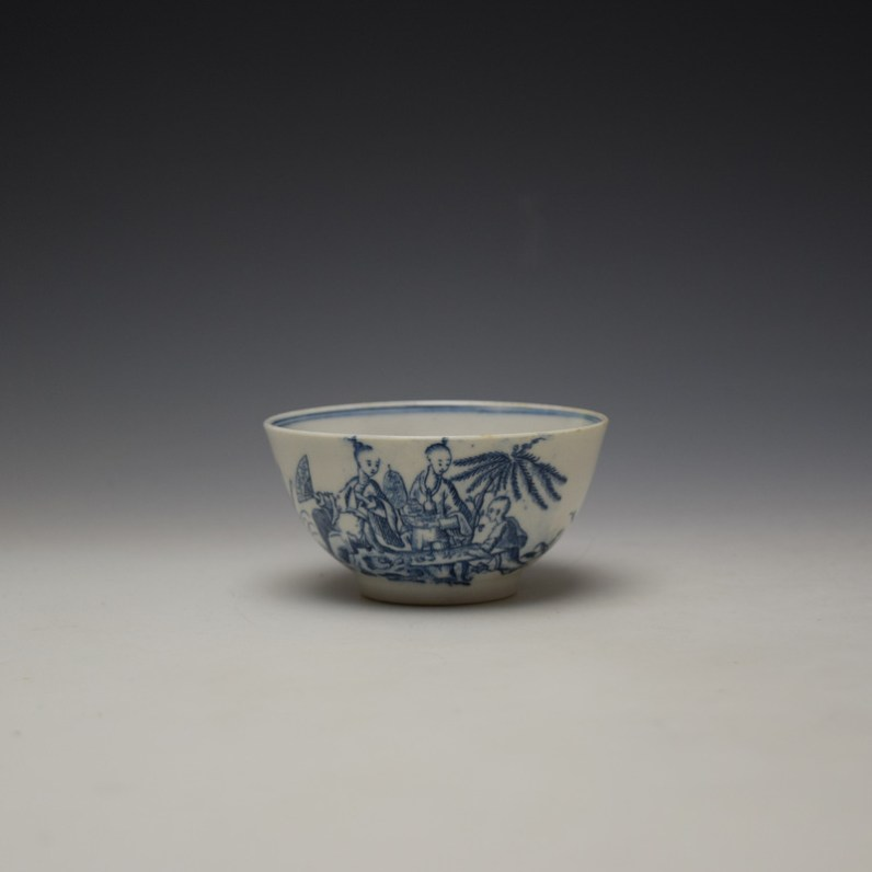 Lowestoft Chinese Tea Party Pattern Teabowl c1775-80 (1)