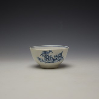 Lowestoft Chinese Tea Party Pattern Teabowl c1775-80 (3)