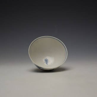 Lowestoft Chinese Tea Party Pattern Teabowl c1775-80 (5)