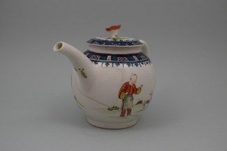 Lowestoft Porcelain Mandarin A Walk In The Park Pattern, C1768-70 (2)