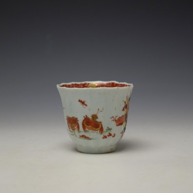 Worcester Red Crab Pattern Fluted Coffee Cup c1758-65 (2)