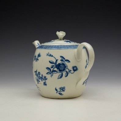 Worcester Ribbon Root Pattern Teapot and Cover c1775 (6)