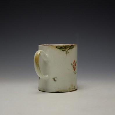 West Pans Floral Pattern Small Mug c1760-70 (5)