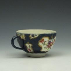 Worcester Wet Blue Floral Pattern Teacup cc1770-75 (4)