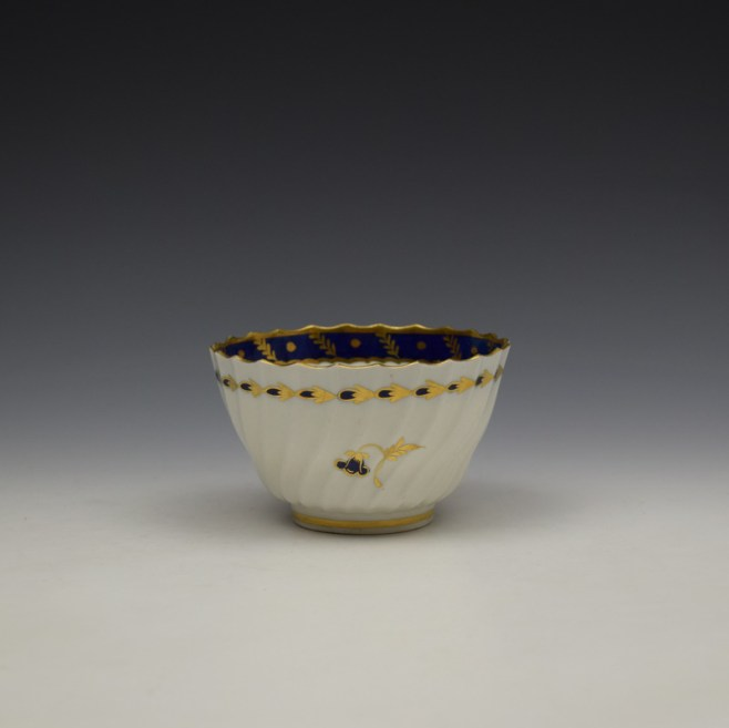 Worcester Flight Period Corn Sprigs Pattern Trio c1785 (9)