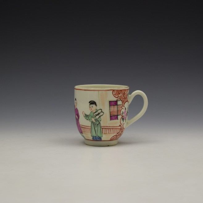 Worcester Lady With Fan Mandarin Pattern Coffee Cup c1770-80 (1)