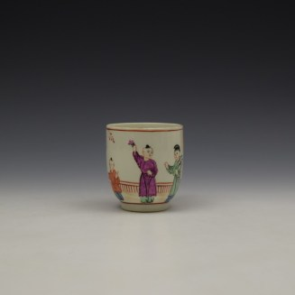 Worcester Lady With Fan Mandarin Pattern Coffee Cup c1770-80 (2)
