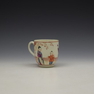 Worcester Lady With Fan Mandarin Pattern Coffee Cup c1770-80 (3)