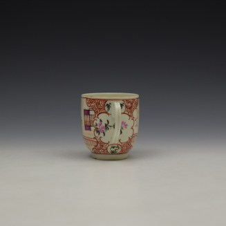 Worcester Lady With Fan Mandarin Pattern Coffee Cup c1770-80 (5)