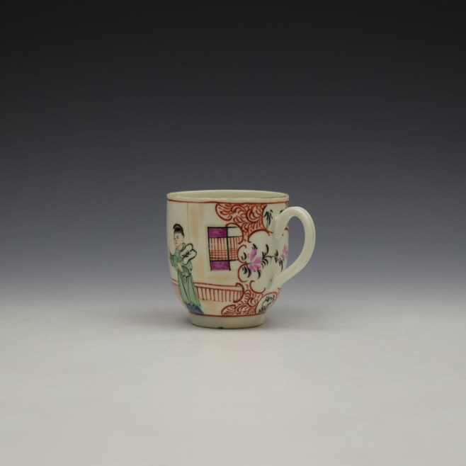 Worcester Lady With Fan Mandarin Pattern Coffee Cup c1770-80 (6)