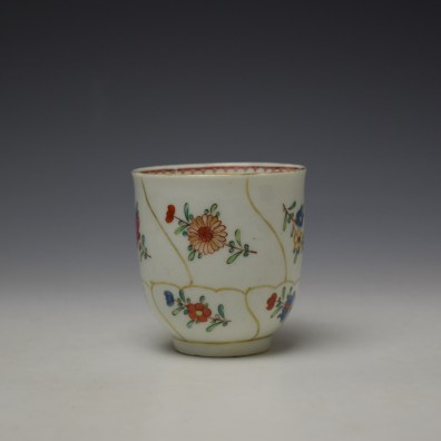 Worcester Queens Floral Pattern Coffee Cup c1765-70 (2)