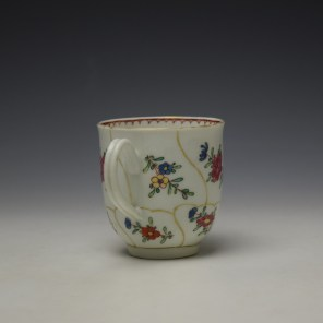 Worcester Queens Floral Pattern Coffee Cup c1765-70 (4)