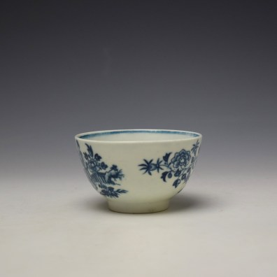 Worcester The Three Ladies Pattern Teabowl and Saucer c1770-80 (5)