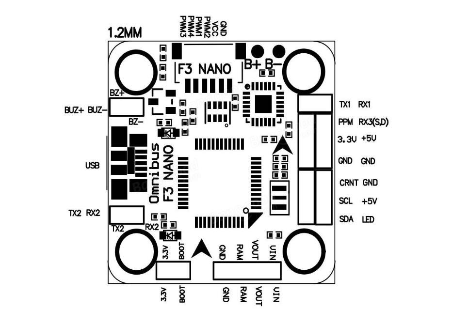 Acro F3 Nano Flight Controler w/OSD(20x20mm) : ep-models