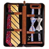 travel tie organizer vegan leather travel tie case 6 neck ...