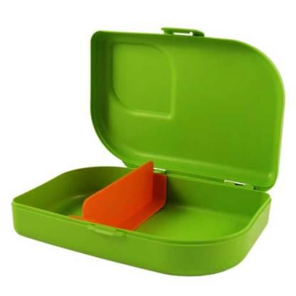 Plastikfreie Brotbox grün