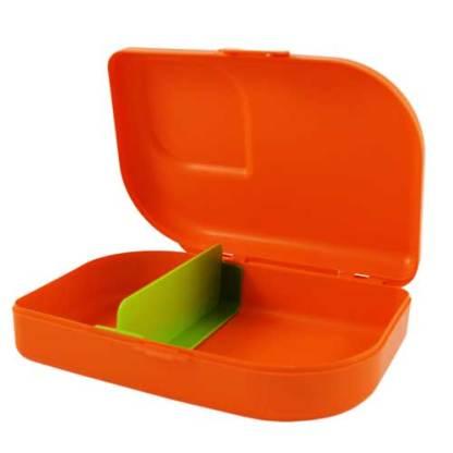 Plastikfreie Brotbox orange