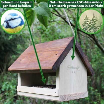 Vogelfutterhaus XL hängend