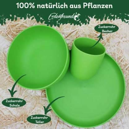 Plastikfreies Pflanzengeschirr grün