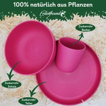 Plastikfreies Pflanzengeschirr pink