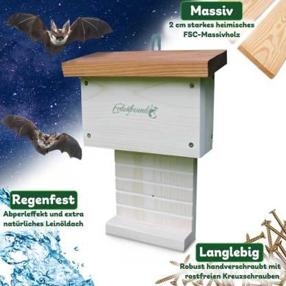 Fledermaushaus aufhängen