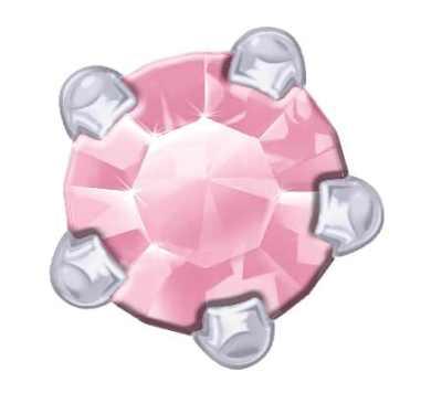 Claw Set - SWAROVSKI GEMS - Pink Zirconia