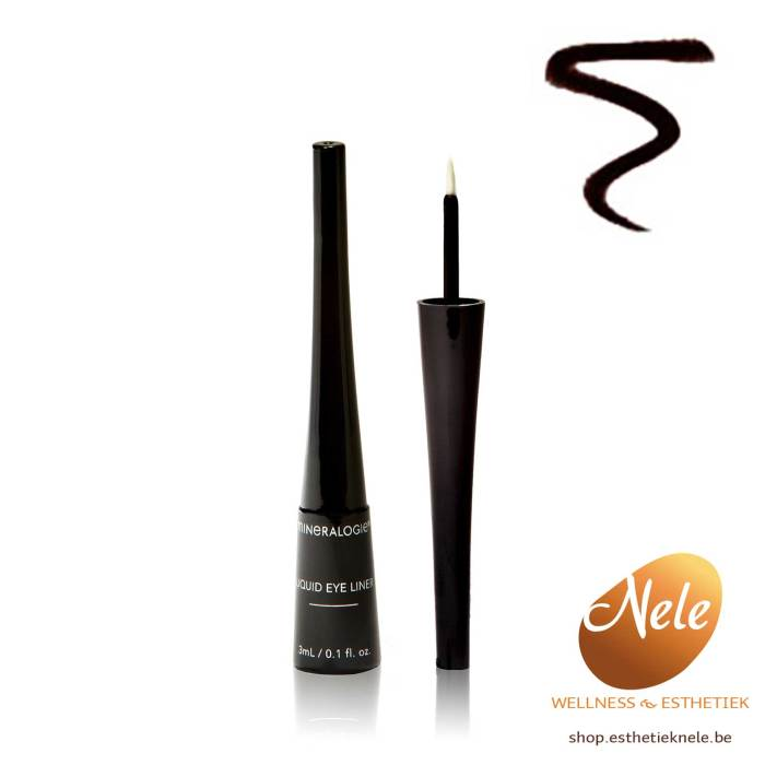 Mineralogie Minerale Make-up Liquid Eyeliner Black Wellness Esthetiek Nele