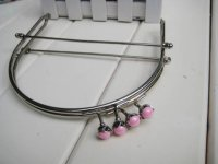 10pcs 6 inch Silver Metal Purse Frame with Ball Clasp and
