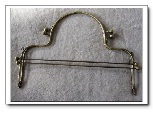 26CM Metal Purse Frame with Ball Clasp and Loops