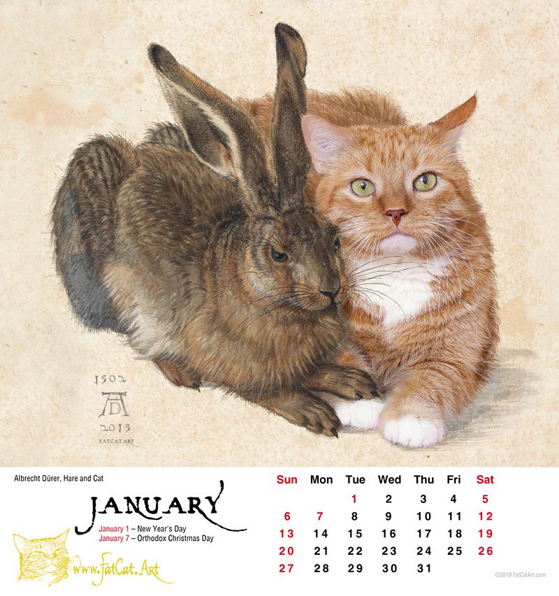 FatCatArt Calendar 2019   FatCatArt