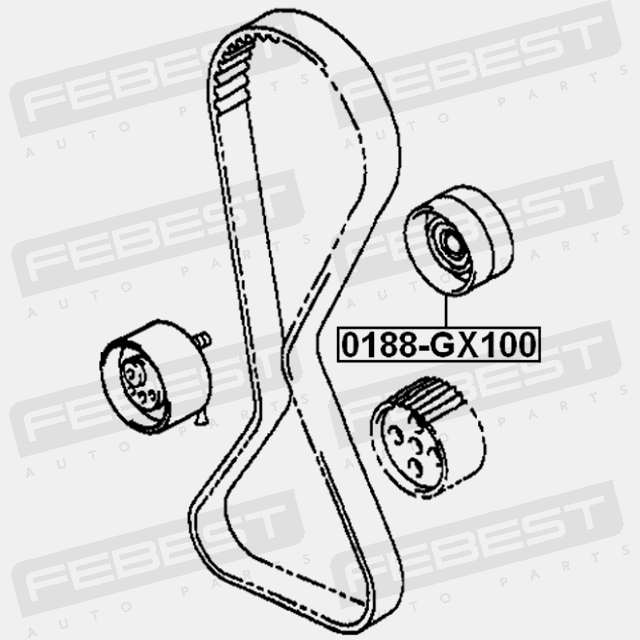 0188-GX100 PULLEY IDLER TIMING BELT LEXUS IS200/300 GXE10