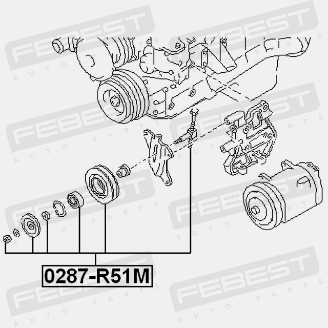 PULLEY TENSIONER KIT FOR NISSAN NAVARA 2005- OEM: 11925