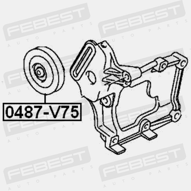 PULLEY TENSIONER KIT FOR MITSUBISHI PAJERO 1991-2004 OEM