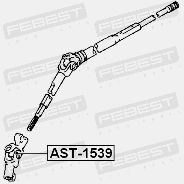 UNIVERSAL JOINT 15X39 FOR NISSAN ALMERA 2012- OEM: 48080