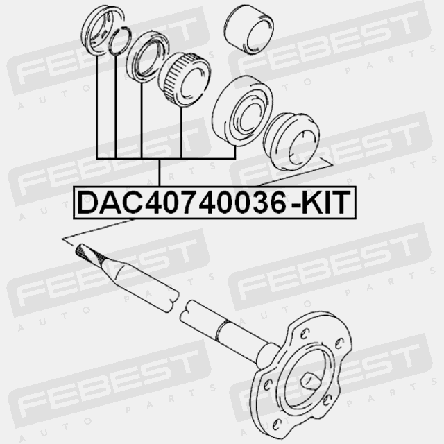 REAR WHEEL BEARING REPAIR KIT 40X74X36 FOR SUZUKI GRAND