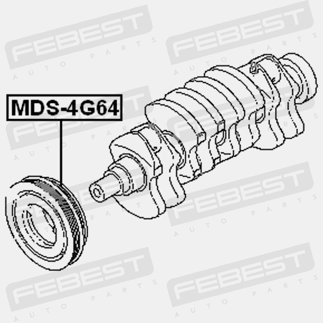 CRANKSHAFT PULLEY ENGINE 4G64 FOR MITSUBISHI CHARIOT 1997