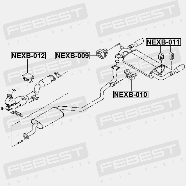 NEXB-009 EXHAUST PIPE SUPPORT NISSAN MURANO Z50 2002-2007