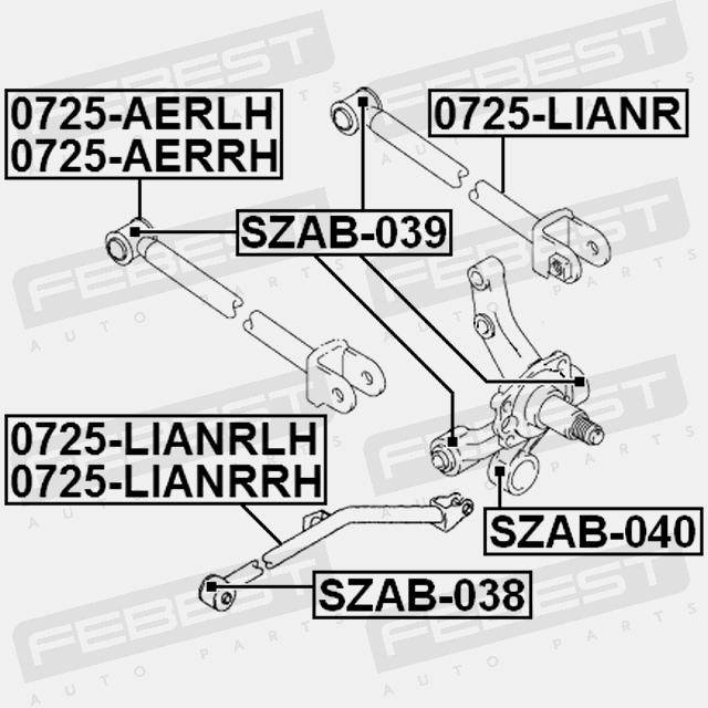 BUSHING FOR LATERAL CONTROL ROD FOR SUZUKI ESTEEM 1995