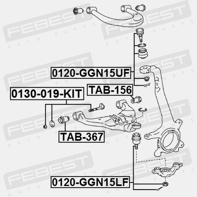 BUSHING FRONT LOWER ARM FOR TOYOTA HILUX 2011- OEM: 48654