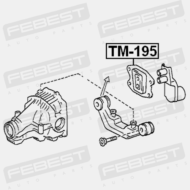 TM-195 REAR DIFFERENTIAL MOUNT TOYOTA CALDINA ST195 4WD