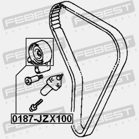 TIMING BELT TENSIONER PULLEY. Febest 0187-JZX100. TOYOTA
