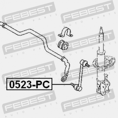 FRONT STABILIZER LINK / SWAY BAR LINK. Febest 0523-PC