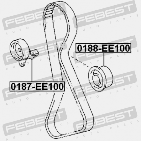 PULLEY IDLER TIMING BELT (TOYOTA 13503-11030) Bearings