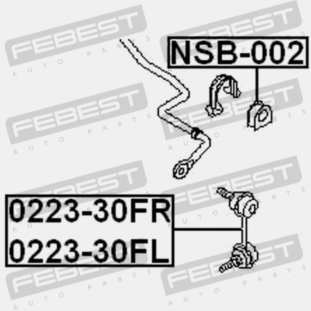 FRONT RIGHT STABILIZER LINK / SWAY BAR LINK (NISSAN, SSANG