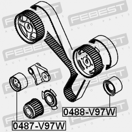 TENSIONER TIMING BELT (CHRYSLER, DODGE, HONDA) Bearings