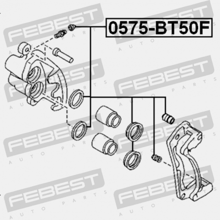 FRONT BRAKE CALIPER REPAIR KIT (FORD, MAZDA UMY1-33-26ZA