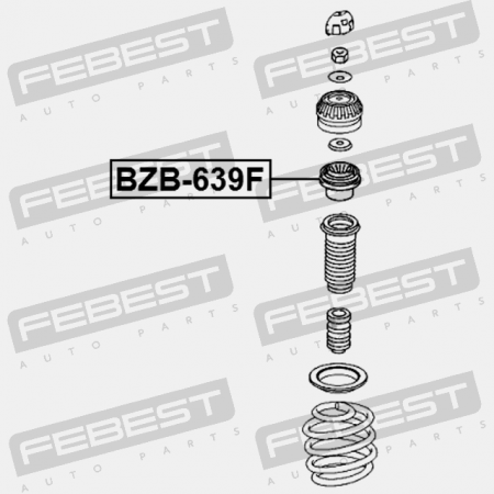 FRONT SHOCK ABSORBER BEARING. Febest: BZB-639F
