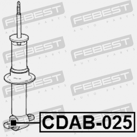 FRONT SHOCK ABSORBER BUSHING. Febest: CDAB-025